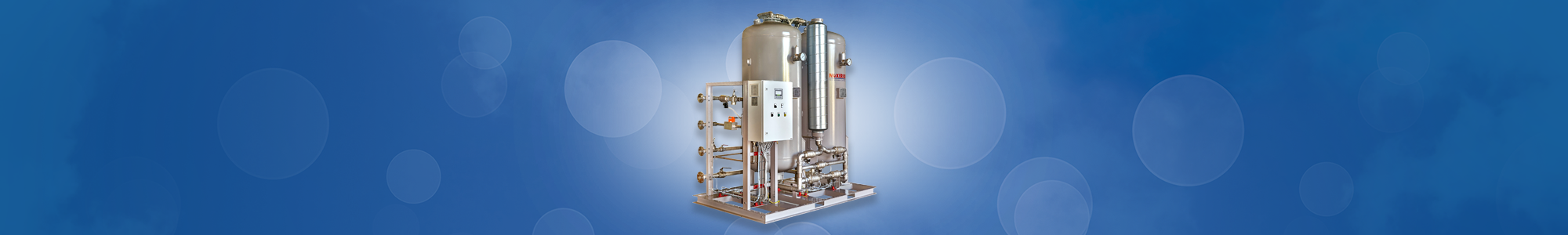 Oxygen generator PSA Twin tower: for medium to high consumption.