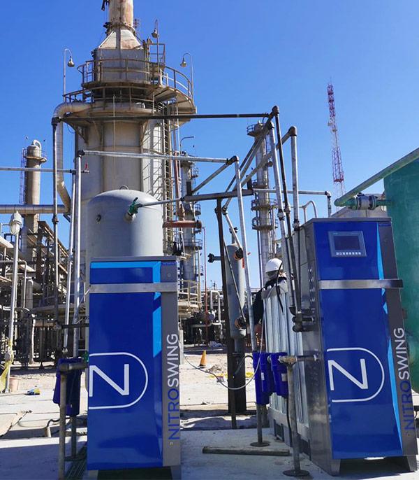 Produzione di azoto NOVAIR per il settore del gas